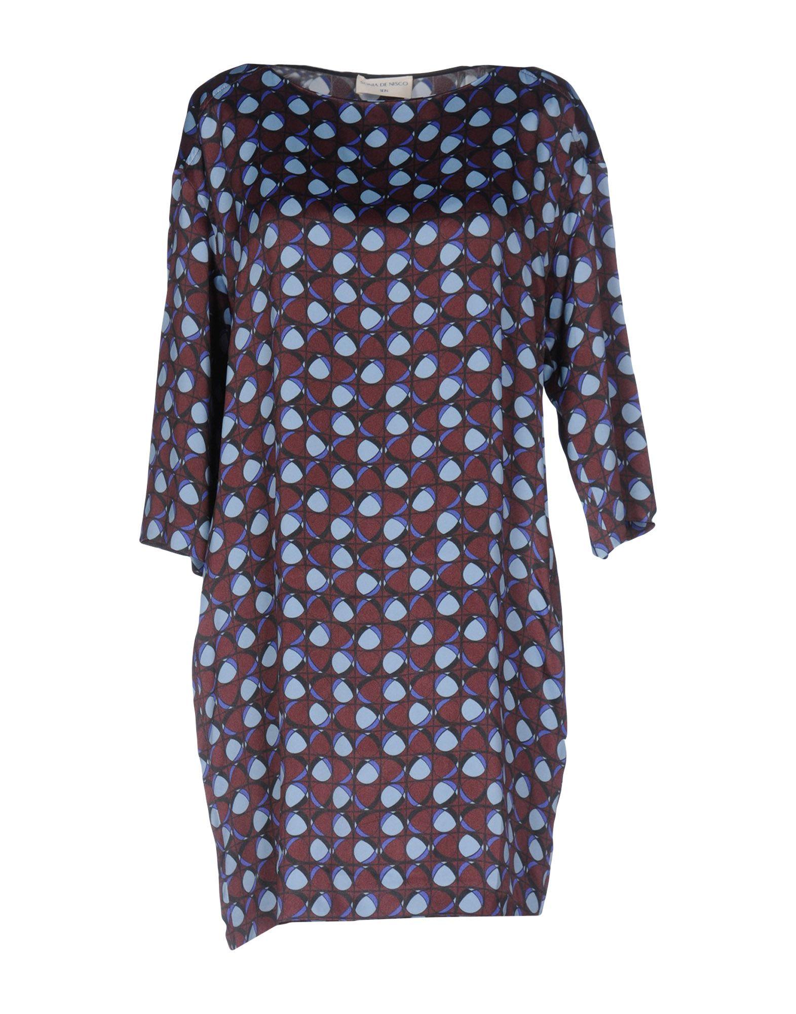 SONIA DE NISCO Короткое платье sonia de nisco пальто