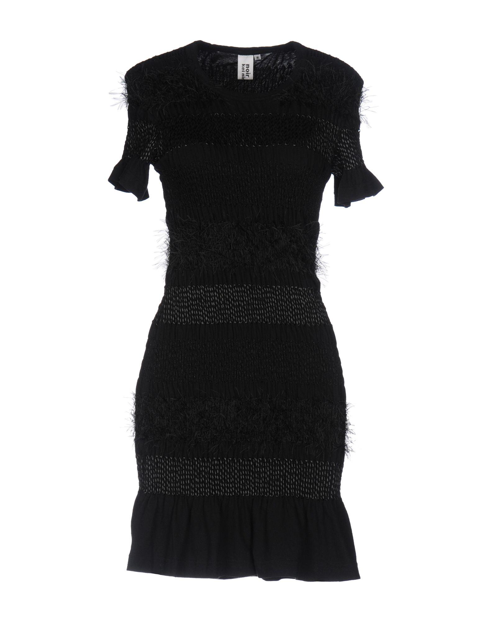 NOIR KEI NINOMIYA Короткое платье футболка supremebeing pantera noir ss14 black 8901 xl