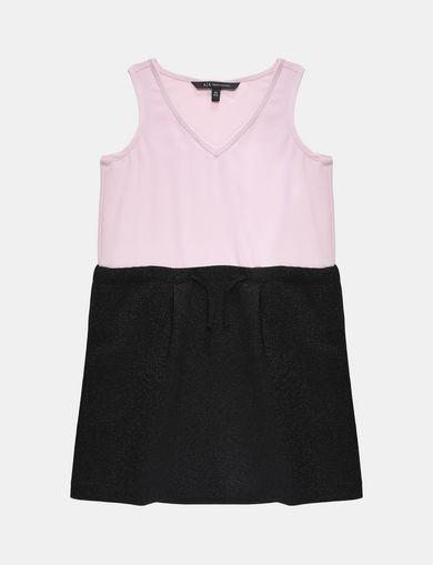 GIRLS SPARKLY V-NECK TANK DRESS