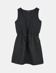 ARMANI EXCHANGE GIRLS SPARKLY V-NECK TANK DRESS Mini dress Woman f