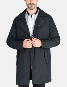 ARMANI EXCHANGE 3-IN-1 BELTED NYLON PEACOAT Jacket Man f