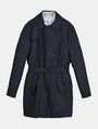ARMANI EXCHANGE 3-IN-1 BELTED NYLON PEACOAT Jacket Man b