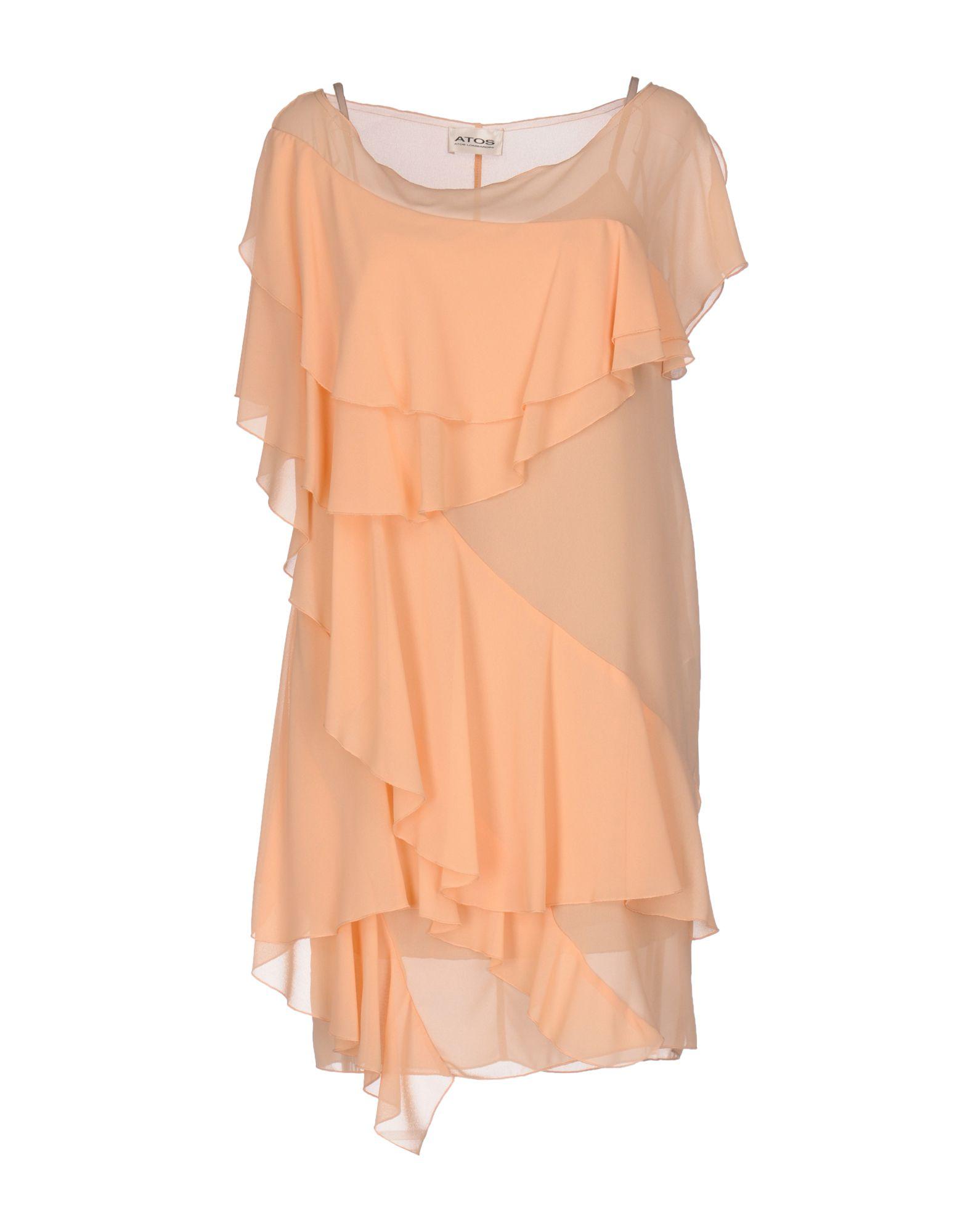 ATOS ATOS LOMBARDINI Короткое платье 12storeez платье комбинация на одно плечо чёрный