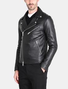 ARMANI EXCHANGE ASYMMETRICAL LEATHER MOTO JACKET Leather Man d
