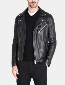 ARMANI EXCHANGE ASYMMETRICAL LEATHER MOTO JACKET Leather Man f