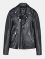ARMANI EXCHANGE ASYMMETRICAL LEATHER MOTO JACKET Leather Man b