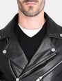 ARMANI EXCHANGE ASYMMETRICAL LEATHER MOTO JACKET Leather Man e
