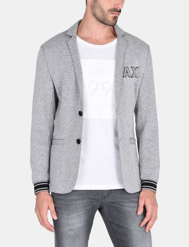 VARSITY BLAZER WITH BANDED CUFFS