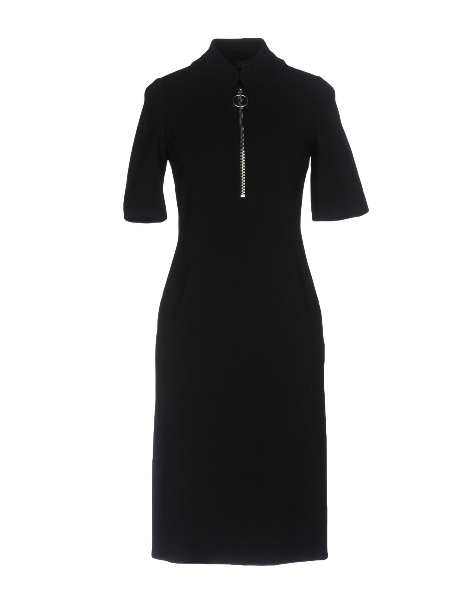 GUCCI Damen Knielanges Kleid Farbe Schwarz Größe 5