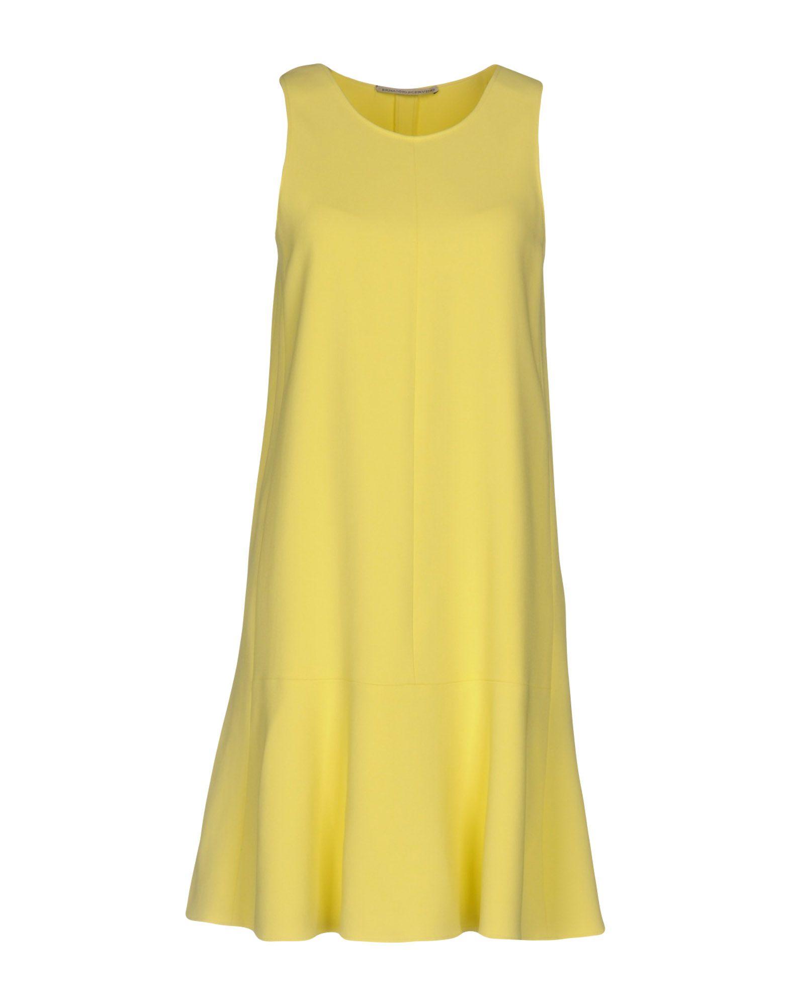 ERMANNO SCERVINO Damen Kurzes Kleid Farbe Gelb Größe 4