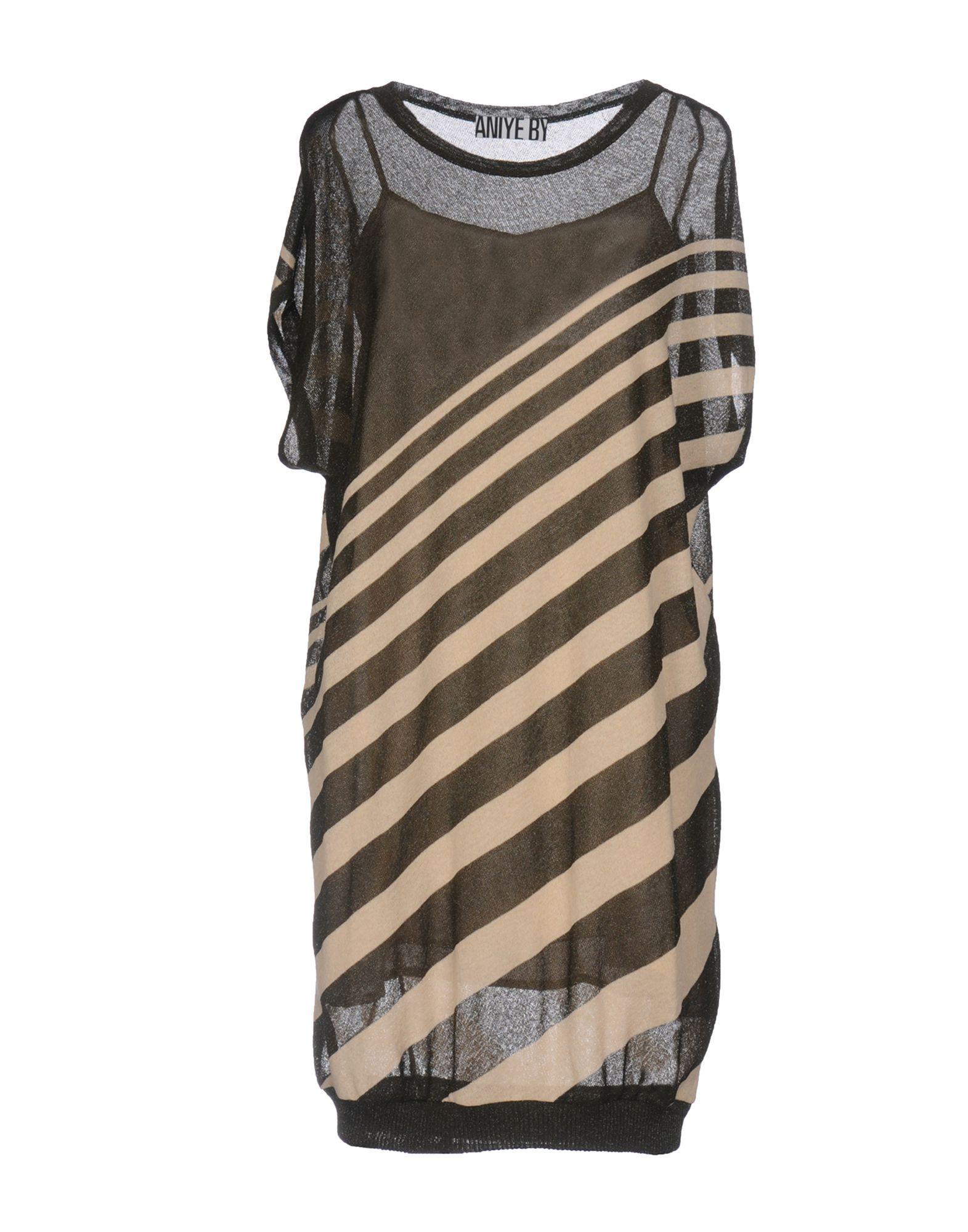 ANIYE BY Damen Kurzes Kleid Farbe Militärgrün Größe 4