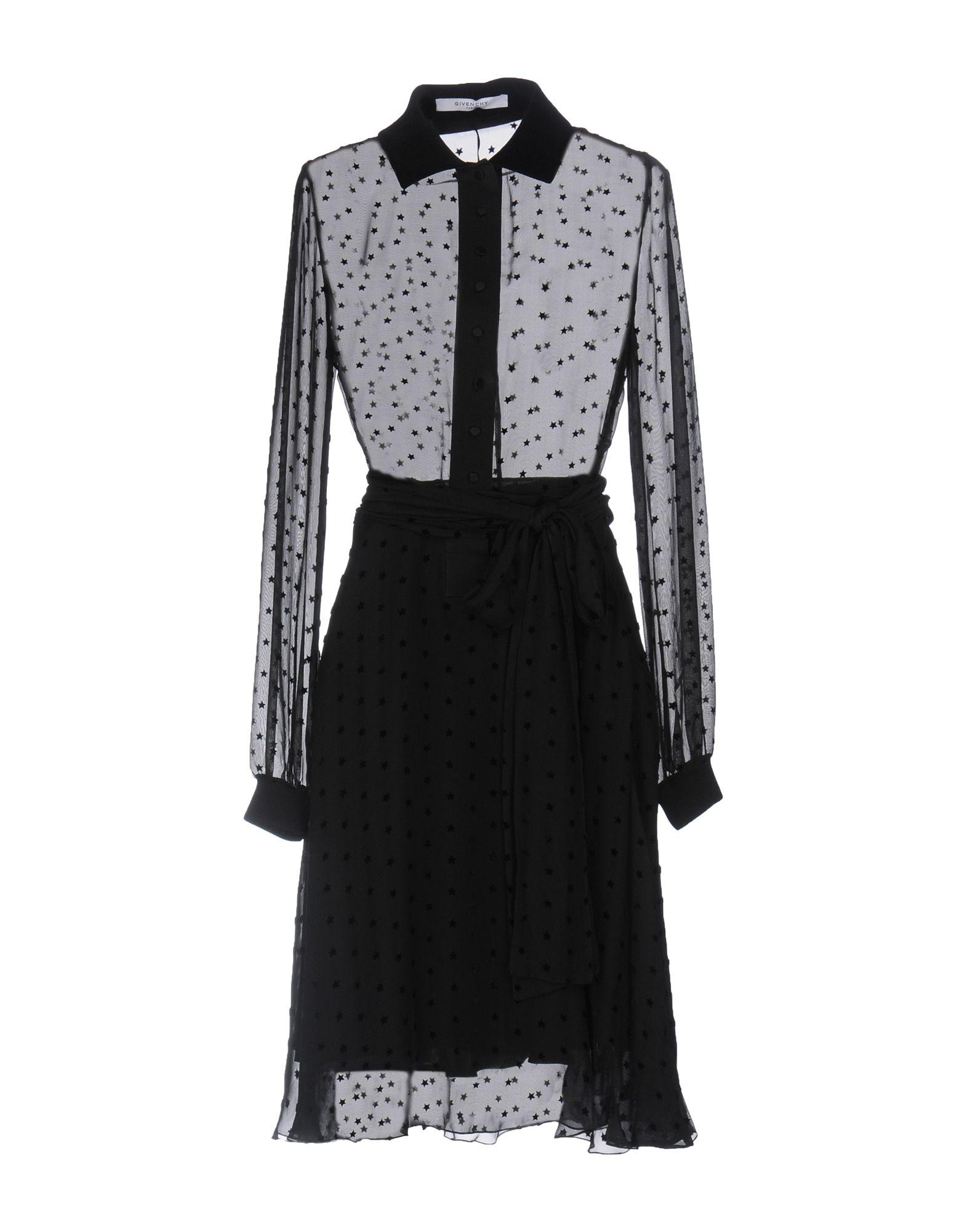 GIVENCHY Короткое платье рубашка givenchy цвет серый черный