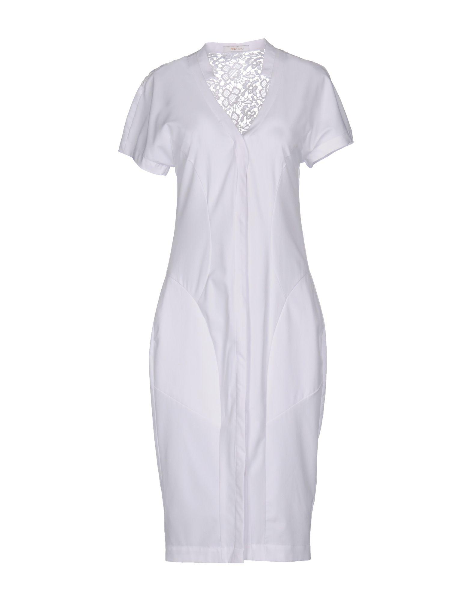 BEAYUKMUI Платье до колена платье beayukmui цвет черный белый