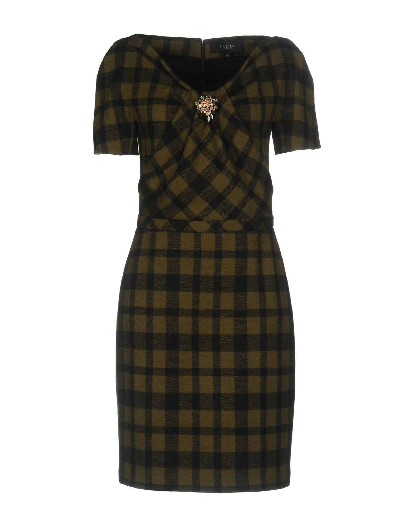 GUCCI Damen Kurzes Kleid Farbe Militärgrün Größe 5