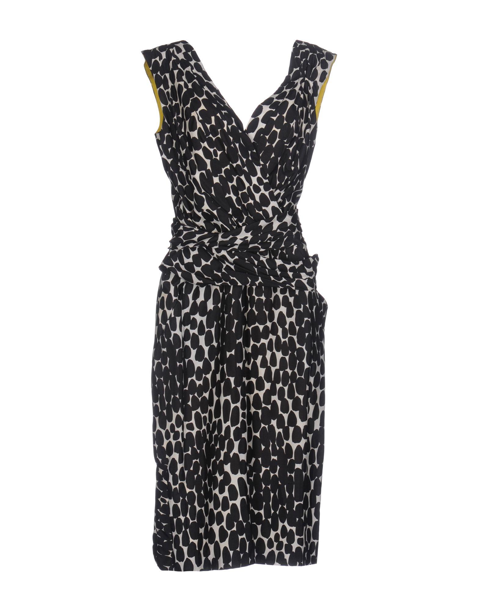 GUCCI Damen Knielanges Kleid Farbe Schwarz Größe 6