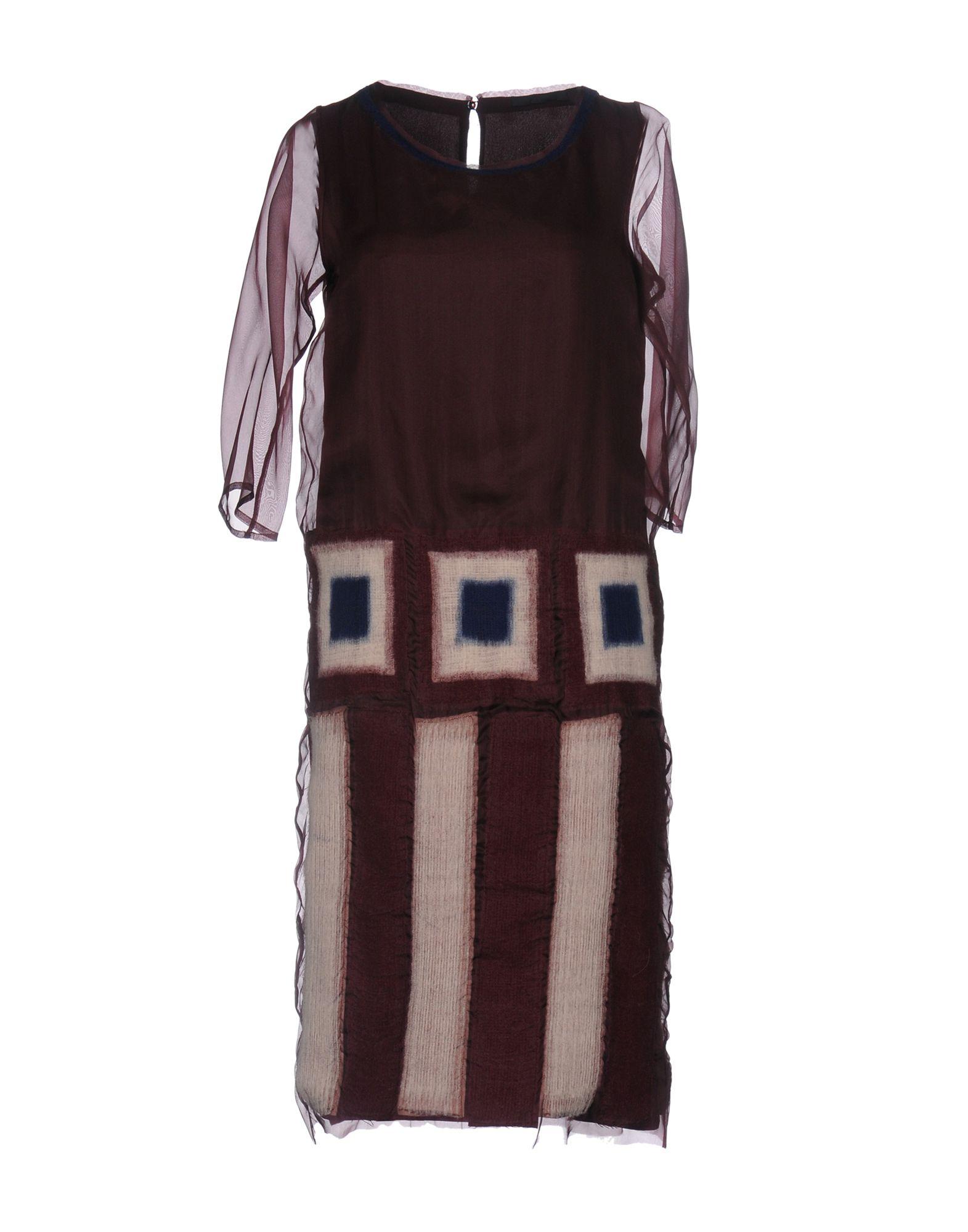 MAURIZIO PECORARO Платье до колена цена 2017