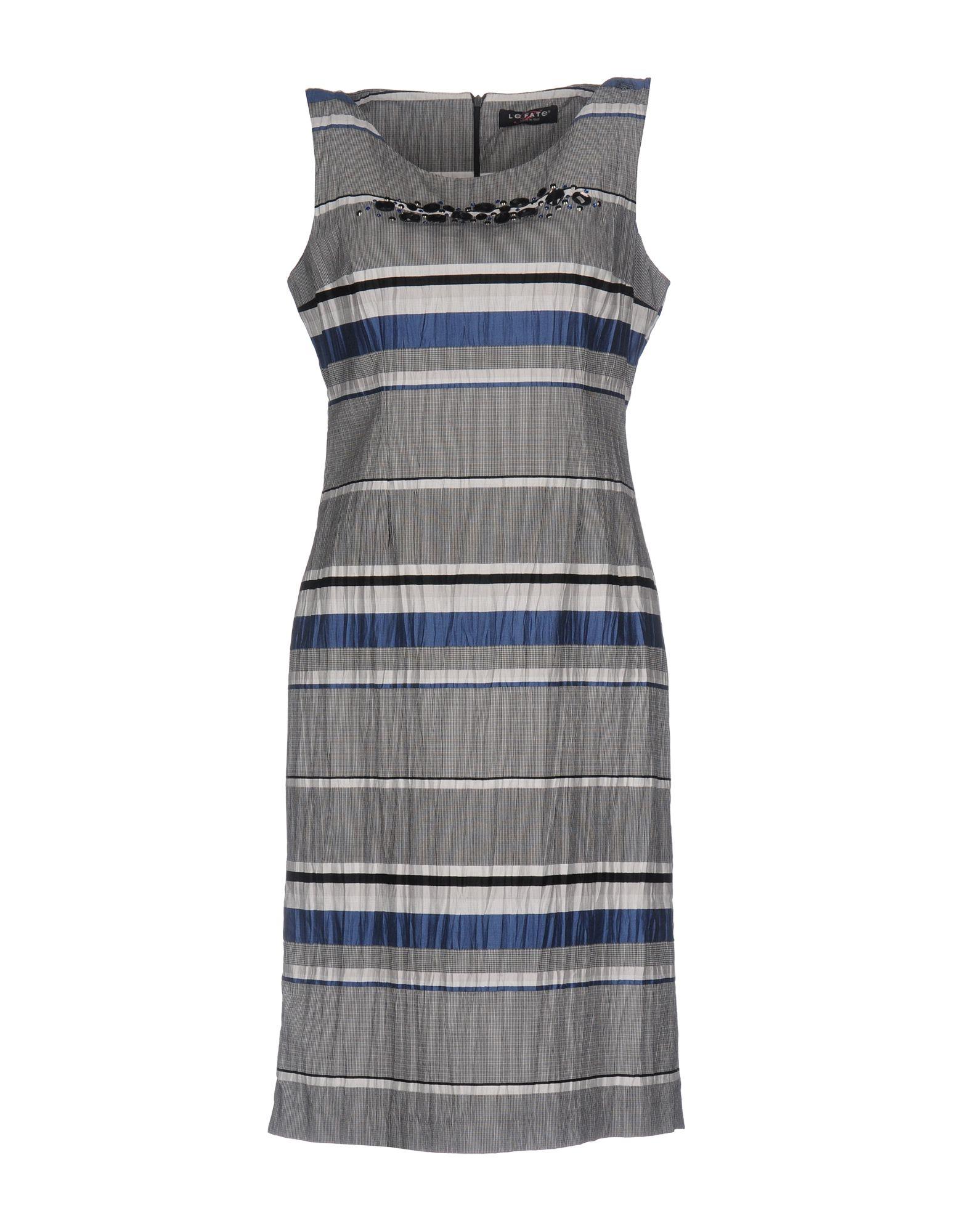 LE FATE Короткое платье свободное платье в полоску le fate платья и сарафаны с принтом