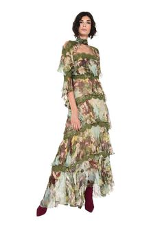 ALBERTA FERRETTI Long dress with flounces Long Dress D a