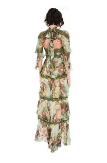 ALBERTA FERRETTI Long dress with flounces Long Dress D r