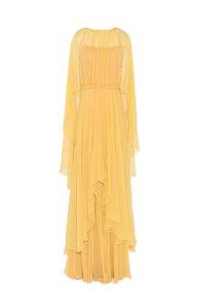ALBERTA FERRETTI Evening dress in chiffon Long Dress Woman d
