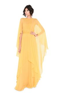 ALBERTA FERRETTI Evening dress in chiffon Long Dress D f