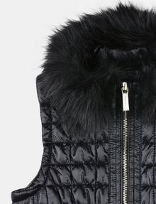 ARMANI EXCHANGE GIRLS FAUX FUR COLLAR SMOCKED PUFFER VEST PUFFER JACKET Woman d