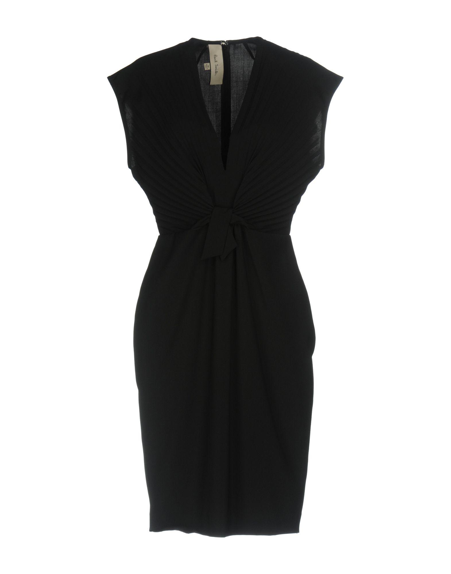 PAUL SMITH Damen Knielanges Kleid Farbe Schwarz Größe 5