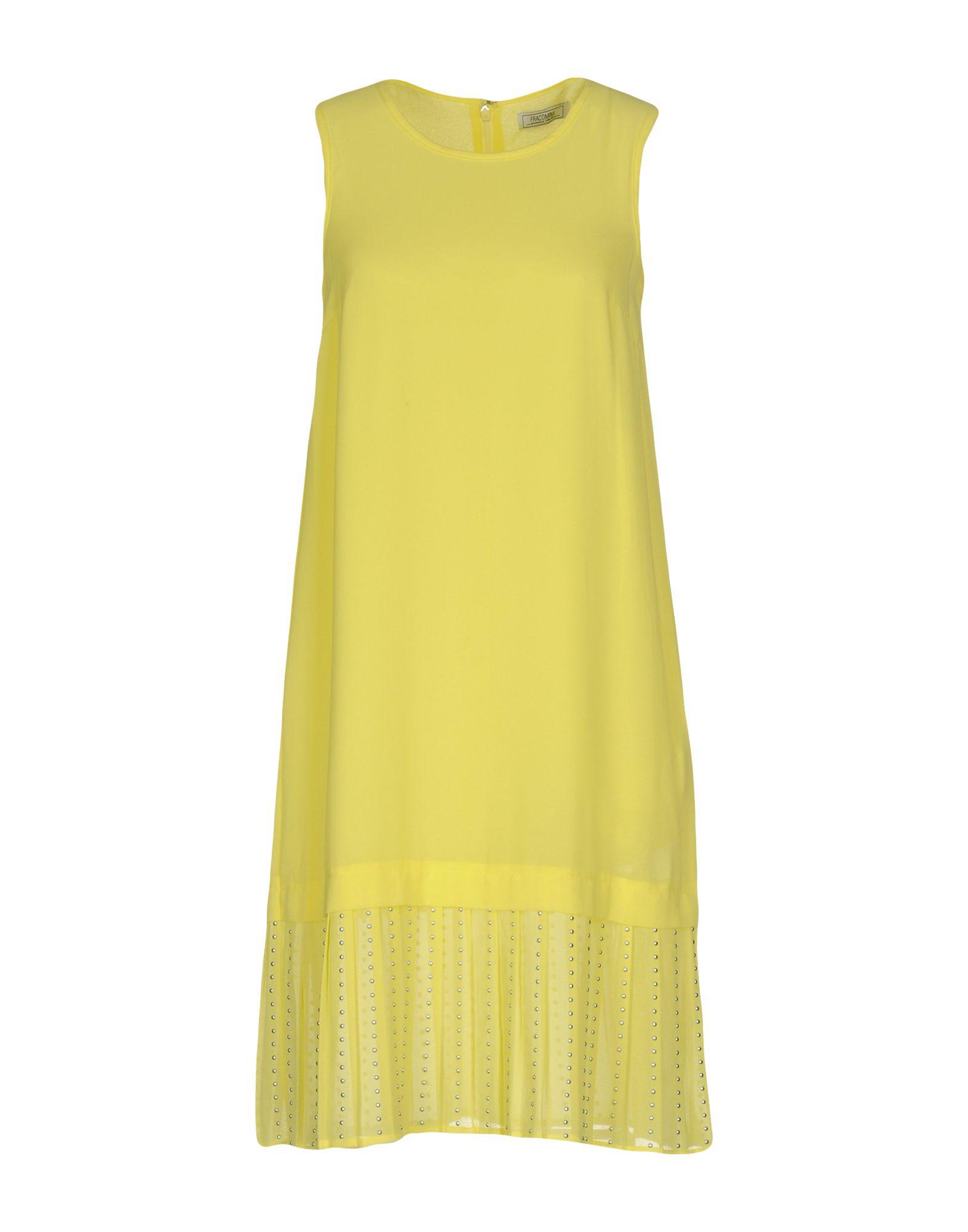 FRACOMINA Damen Kurzes Kleid Farbe Gelb Größe 4