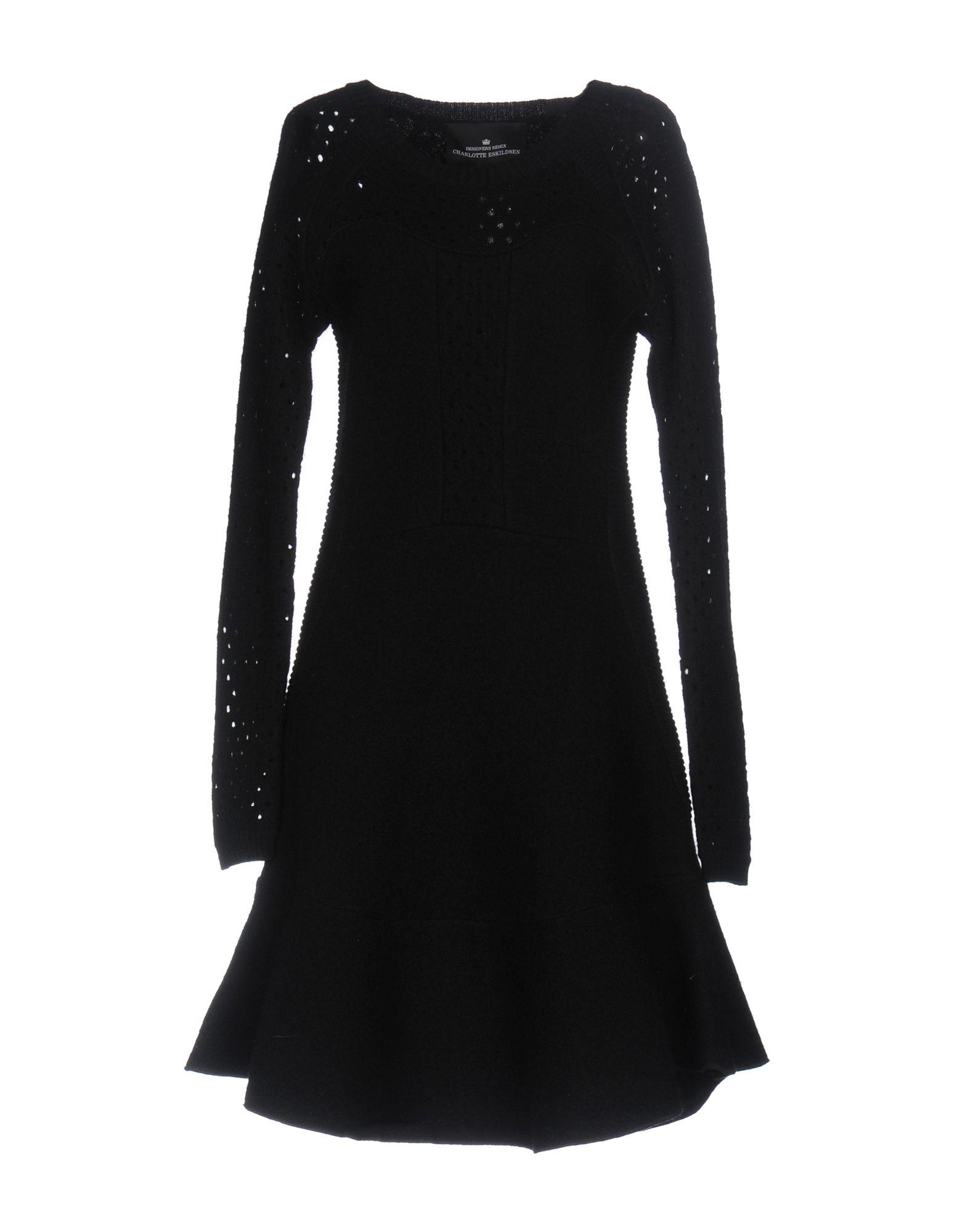 DESIGNERS REMIX CHARLOTTE ESKILDSEN Короткое платье designers remix однотонное платье dagmar long