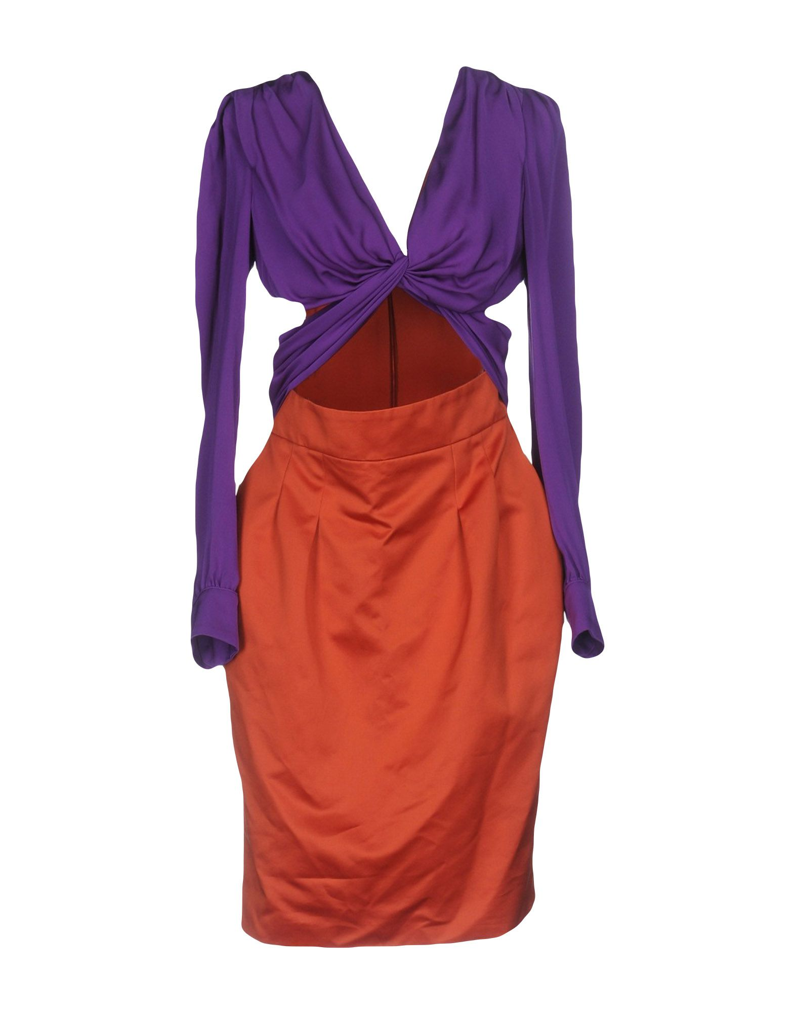 GUCCI Damen Knielanges Kleid Farbe Violett Größe 3
