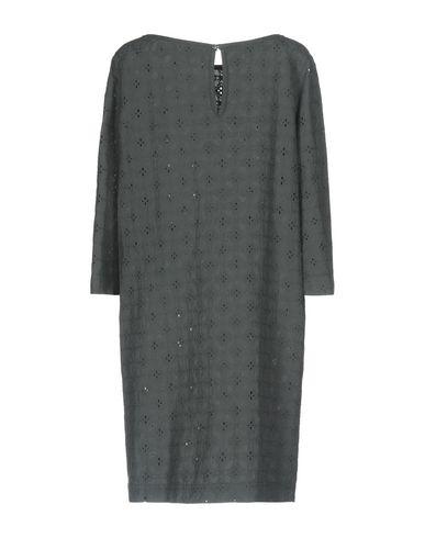 Фото 2 - Женское короткое платье ZHELDA свинцово-серого цвета