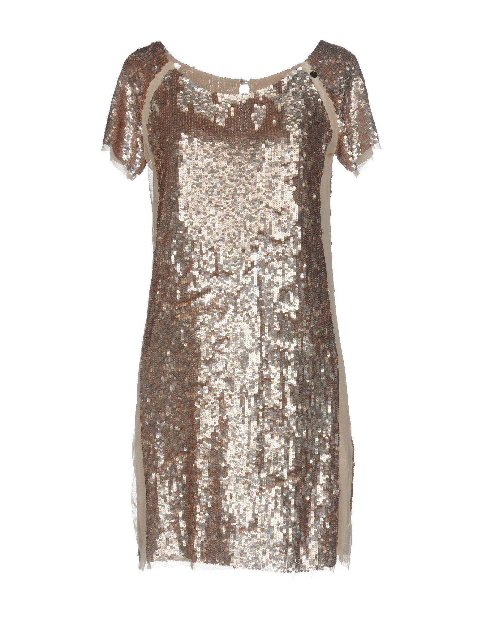 ELISABETTA FRANCHI GOLD Короткое платье elisabetta franchi черное асимметричное платье
