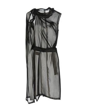ANN DEMEULEMEESTER Damen Knielanges Kleid Farbe Granitgrau Größe 3 Sale Angebote Pappenheim