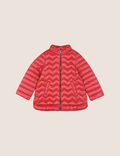 GIRLS CHEVRON A-LINE PUFFER JACKET