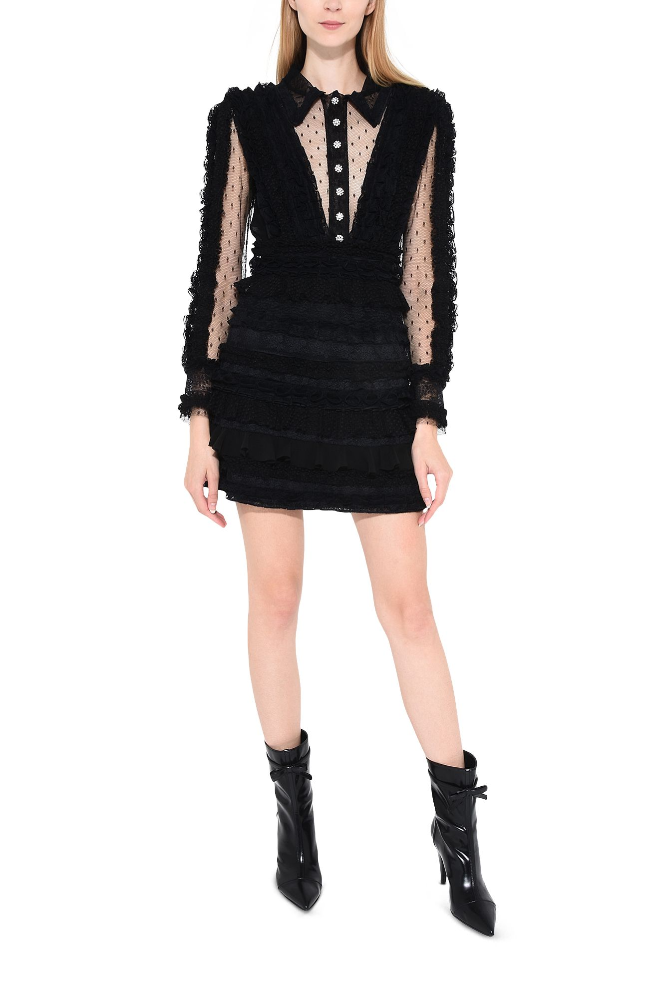 PHILOSOPHY di LORENZO SERAFINI Short Dress D Strapless lace dress r