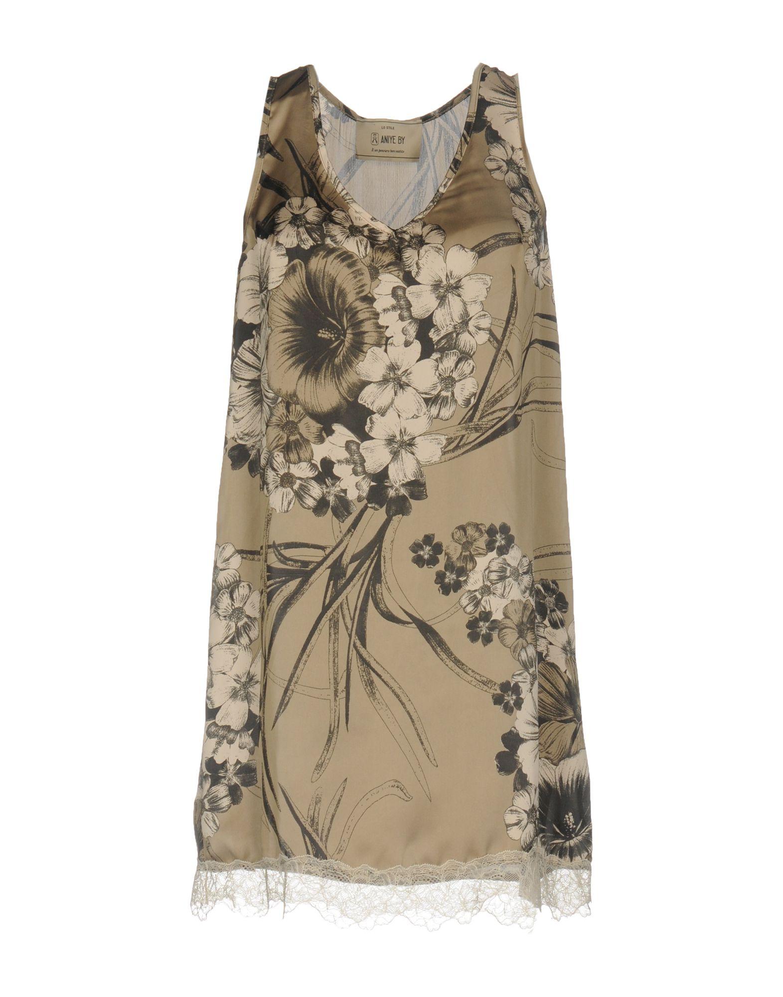 ANIYE BY Damen Kurzes Kleid Farbe Khaki Größe 4