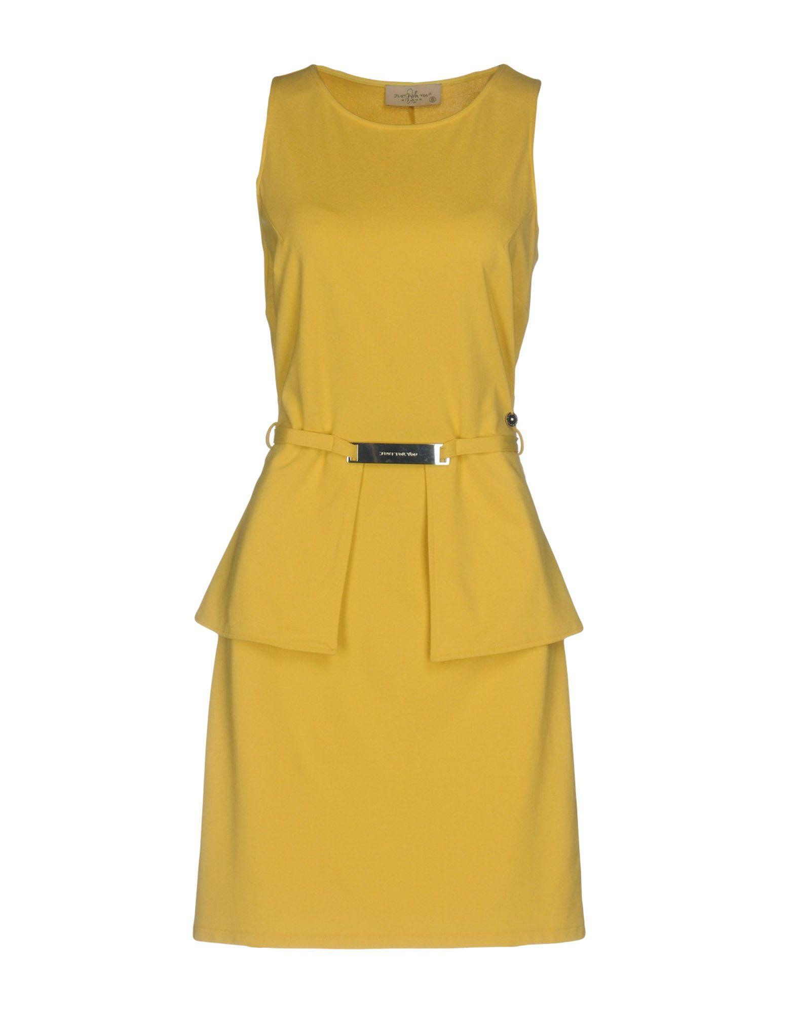 JUST FOR YOU Damen Kurzes Kleid Farbe Gelb Größe 4