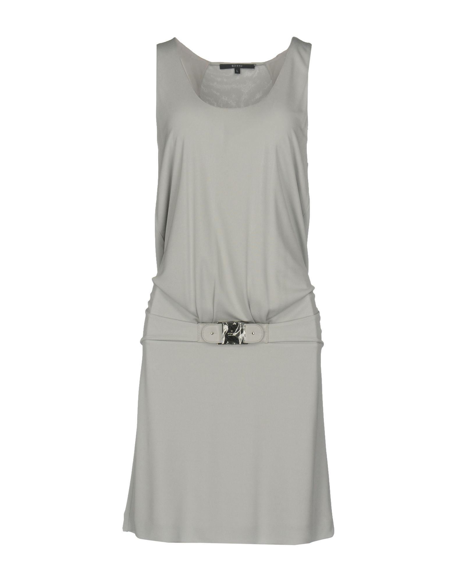 GUCCI Damen Kurzes Kleid Farbe Hellgrau Größe 6