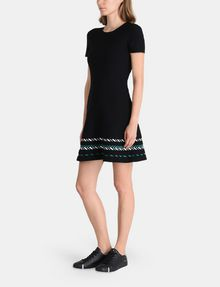 ARMANI EXCHANGE ZIGZAG JAQUARD SWEATER DRESS Mini dress Woman d