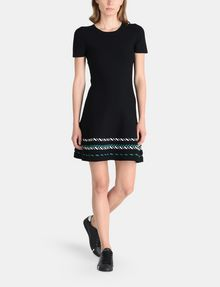 ARMANI EXCHANGE ZIGZAG JAQUARD SWEATER DRESS Mini dress Woman f