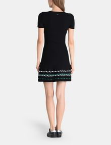 ARMANI EXCHANGE ZIGZAG JAQUARD SWEATER DRESS Mini dress Woman r