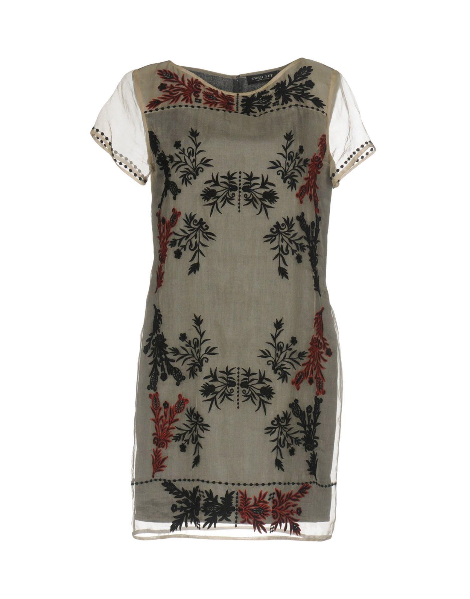 TWIN-SET Simona Barbieri Damen Kurzes Kleid Farbe Beige Größe 4