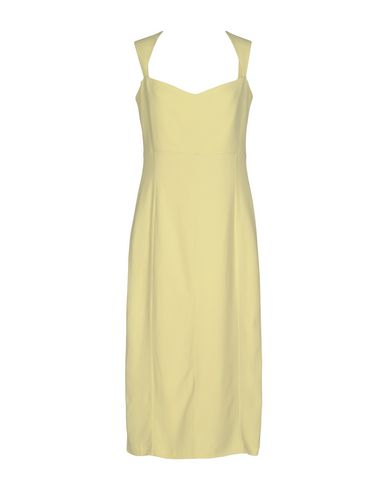 Фото - Платье до колена от SAFIYAA желтого цвета