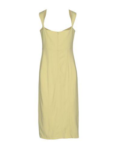 Фото 2 - Платье до колена от SAFIYAA желтого цвета