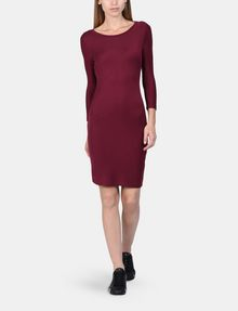 ARMANI EXCHANGE LONG SLEEVE SEAMED BODYCON DRESS Midi dress Woman a