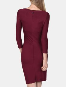 ARMANI EXCHANGE LONG SLEEVE SEAMED BODYCON DRESS Midi dress Woman r