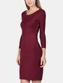 ARMANI EXCHANGE LONG SLEEVE SEAMED BODYCON DRESS Midi dress Woman d