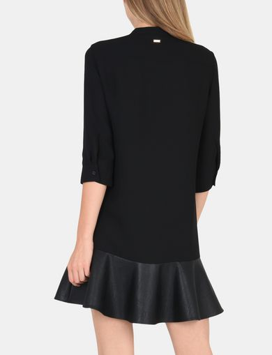 FLARED HEM SHIRTDRESS