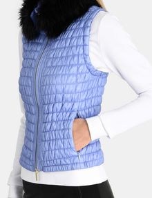 ARMANI EXCHANGE SMOCKED PUFFER VEST PUFFER JACKET Woman e