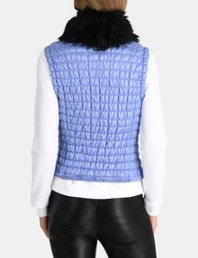 ARMANI EXCHANGE SMOCKED PUFFER VEST PUFFER JACKET Woman r